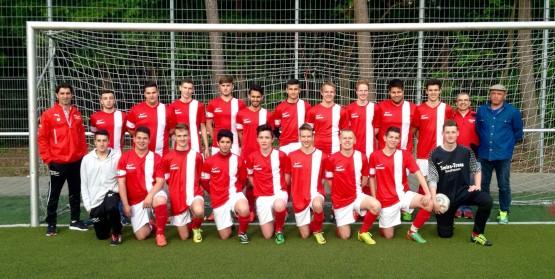 A-Jugend beim letzten Heimspiel gegen St. Ilgen am 20.5.2015 - auf dem Bild fehlen Luca, Jannik S., Giuseppe und Okan.
