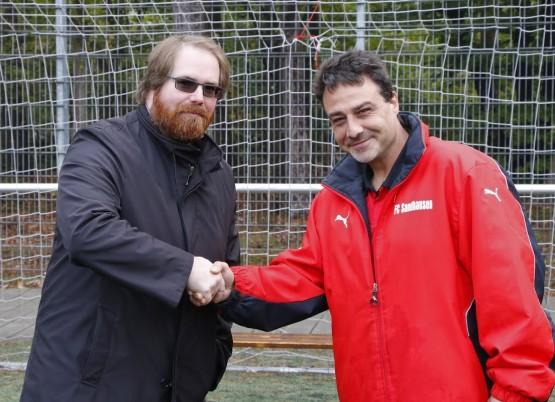 Trainer Thorsten Albrecht mit Daniel Rehm